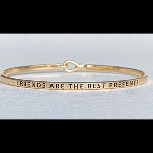 Friend are best present thin hook bangle bracelet